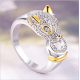 New Explosion Models Small Leopard Head Copper Ladies Ring R-50 |image