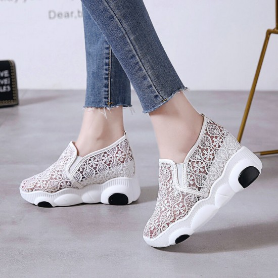 Floral Designed Breathable Women Jogger Shoes S-212W |image