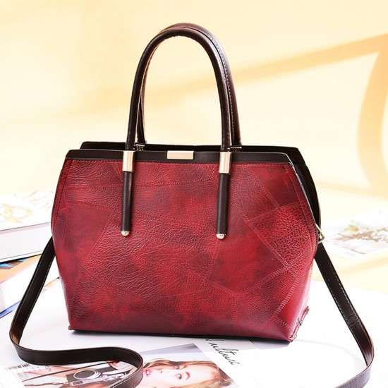 Classic Irregular Stitched Sweet lady Hand Bag - Red |image