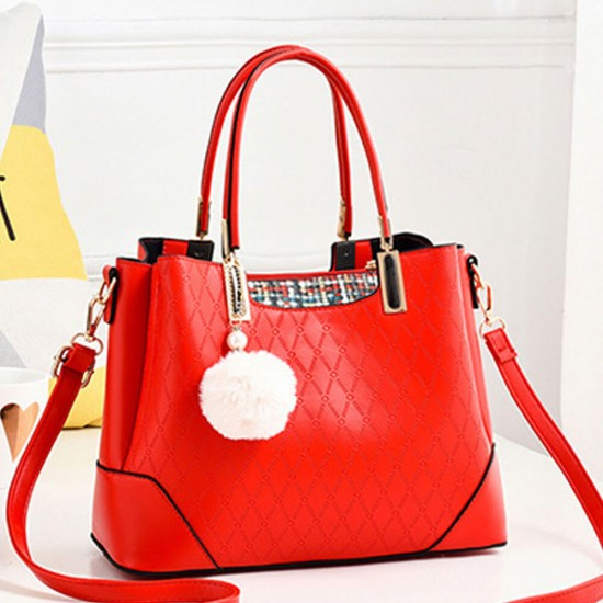 Designers Pattern Women Casual Hand Bag - Red  image