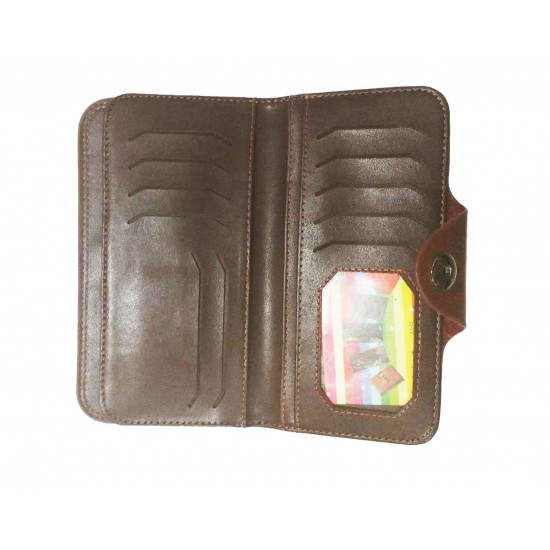 Brown Color Leather Singal Loop Closer Wallet DAW-01