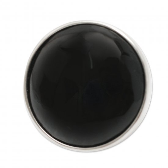 Night Onyx on Sterling Silver Cocktail Ring from Peru Jewelry ANDR-57