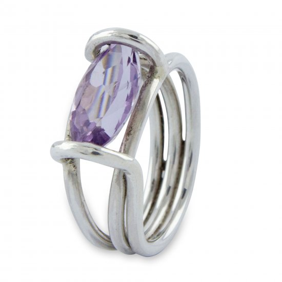 Purple Majesty Brazilian Artisan Crafted Amethyst Cocktail Ring ANDR59