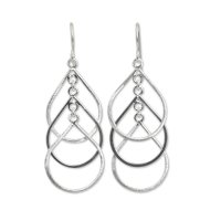 Raindrops Handcrafted Sterling Silver Earrings ANDE-58