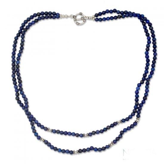 Agra Azure Lapis lazuli strand necklace ANDN-07