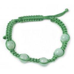 Aventurine Macrame Shamballa Bracelet from India FSB-29