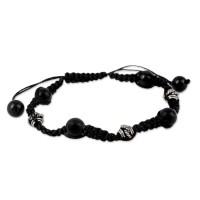 Handcrafted Onyx Shamballa Bracelet FSB-41