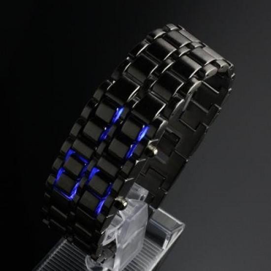 Lava Black Iron Metal Blue LED Watch For Men (Digital, Sport Watch) ANDW-01