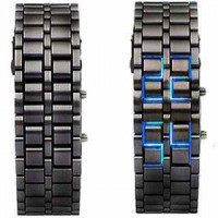 Lava Black Iron Metal Blue LED Watch For Men (Digital, Sport Watch) ANDW-01