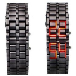 Lava Black Iron Metal Red LED Watch For Men (Digital, Sport Watch) ANDW-02