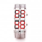 Lava Silver Iron Metal Red LED Watch For Men (Digital, Sport Watch) ANDW-04 image