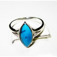 STYLISH TURQUOISE SILVER 925 ORIGINAL RING andr-71