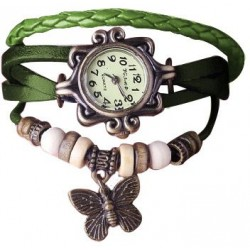Stylish Ladies Vintage Leather Bracelet Watch  CZW-02GR