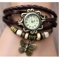 Stylish Brown Ladies Leather Vintage Watch CZW-02BR
