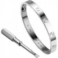 Women's Alloy Silver Cartier Style Screw Bracelet FSB-43S