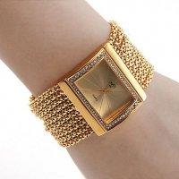 Beautiful Diamond Bracelet for Women Analog Metal Watch CZW-09