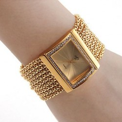 Beautiful Diamond Bracelet for Women Analog Metal Watch CZW-09