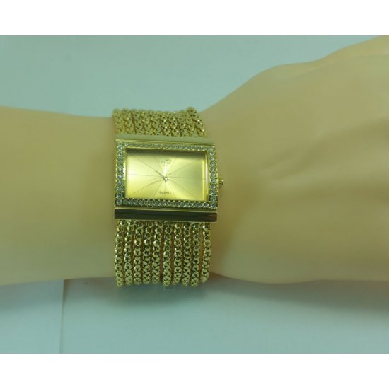 Beautiful Diamond Bracelet for Women Analog Metal Watch CZW-09 image