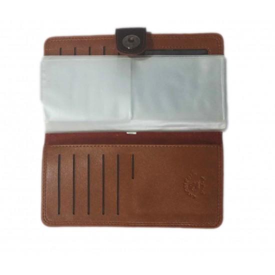 Dark Brown Leather Singal Loop Closer Wallet DAW-02