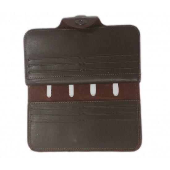 Dark Brown Leather Men Wallet DAW-03