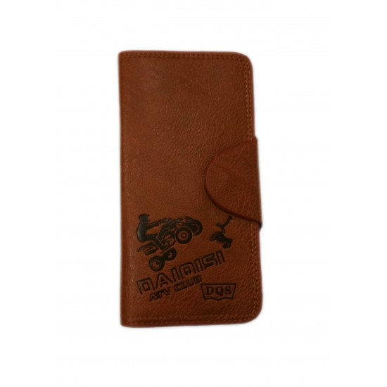 Brown Leather Singal Loop Closer Men Wallet DAW-04