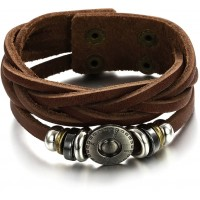 Men's Handmade Leather Fashion Bracelet CHBD-06