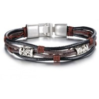 Men's Handmade Leather Fashion Bracelet CHBD-14