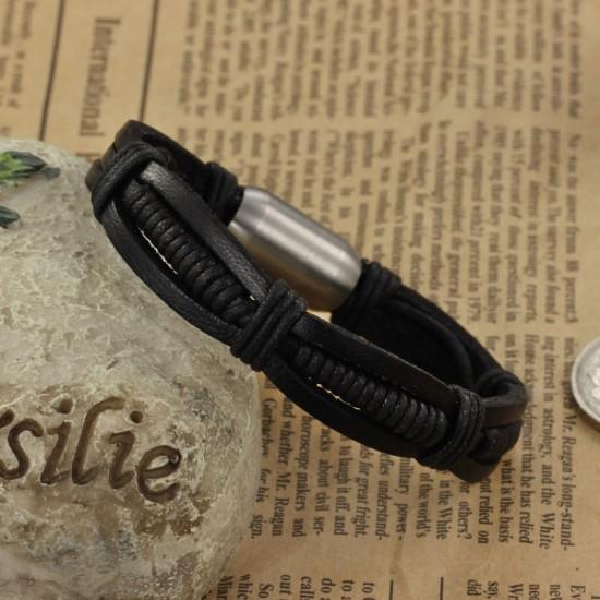 Men's Handmade Leather Fashion Bracelet CHBD-28 image