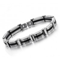 Mens Stainless Steel Silver bracelet for men CHBD-38
