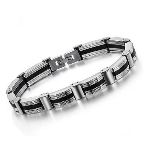 Mens Stainless Steel Silver bracelet for men CHBD-38