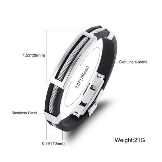 Stainless Steel Genuine Titanium Silicone Bands for Men  CHBD-51