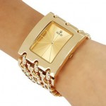 Princess Arm Gold Plated Bracelet Watch For Women's CHD 09 image