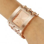 Princess Arm Rose Gold Plated Bracelet Watch For Women's CHD 09RG image