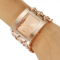 Princess Arm Rose Gold Plated Bracelet Watch For Women's CHD 09RG