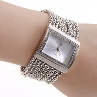 Princes Diamond Silver Bracelet Analog Metal Watch for Women CZW-09S