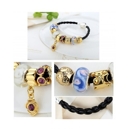 Luxury Charms Leather Rope Bracelets For Women CBD-03 image