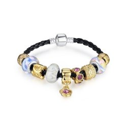 Luxury Charms Leather Rope Bracelets For Women CBD-03