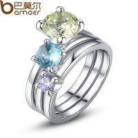 New Jewelry Women Silver Rings With AAA Zircon Cz Engagement  Separated CBR-23