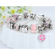 Pink Luxury European Charms Beads Bracelet For Women CBD-22 image