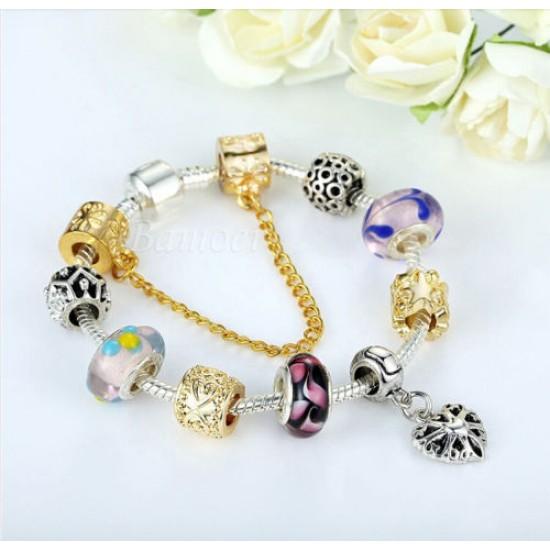 European Silver & Gold Charm Bracelets for Women CBD-98 image