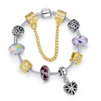 European Silver & Gold  Charm Bracelets for Women CBD-98