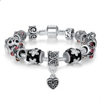 DIY European Silver Charms Murano Bead Bracelet For Women  CBD-01