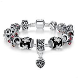 DIY European Silver Charms Murano Bead Bracelet For Women  CBD-01