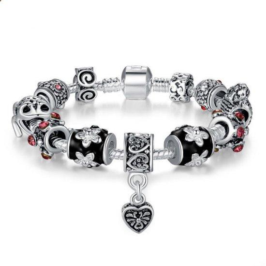 DIY European Silver Charms Murano Bead Bracelet For Women CBD-01 image