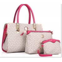 Women's Worsely Cream Color Three Piece Shoulder & Hand Bags Set CLB-31