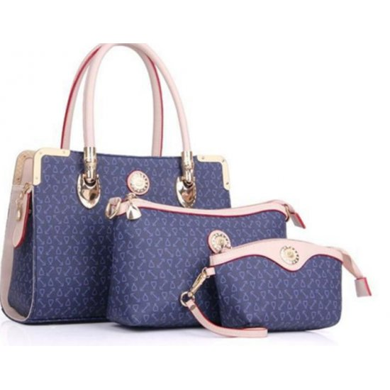Women's Worsely Blue Color Three Piece Shoulder & Hand Bags Set CLB-32