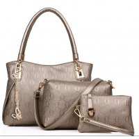 Women's Golden Worsley Same Paragraph Three Piece Shoulder Bag, Handbag & Picture Handbag CLB-33