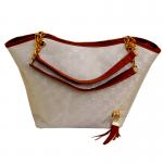 Women's Korean Style Cream Color Shoulder Handbag CLB-61 image