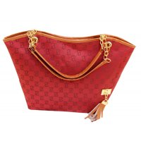 Women's Korean Style Red Color Shoulder Handbag CLB-62