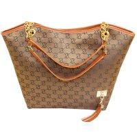 Women's Korean Style Brown Color Shoulder HandbagCLB-63